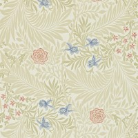 Tapet William Morris - Larkspur Manilla/ Rose