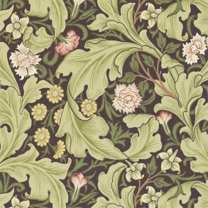 Tapet William Morris - Leicester Chocolate/ Olive - Tapet William Morris Leicester 212542