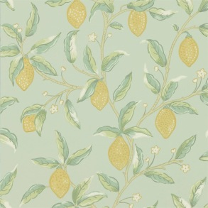 Tapet William Morris - Lemon Tree Sage - Tapet William Morris Lemon Tree 216673
