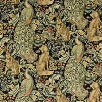 Tyg William Morris - Forest Velvet Charcoal