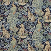 Tyg William Morris - Forest Linne Indigo