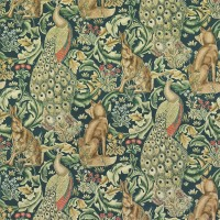 Tyg William Morris - Forest Velvet Azure