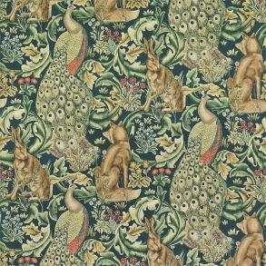 Tyg William Morris - Forest Velvet Azure