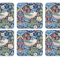 Coaster William Morris - Strawberry Thief Blå
