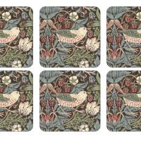 Coaster William Morris - Strawberry Thief Brun