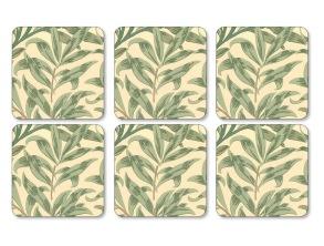 Coaster William Morris - Willow Bough Grön - Coaster William Morris - Willow Bough Grön