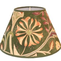Lampskärm William Morris - Wilhelmina Grön Rund 25