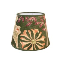 Lampskärm William Morris - Wilhelmina Grön Rund 20