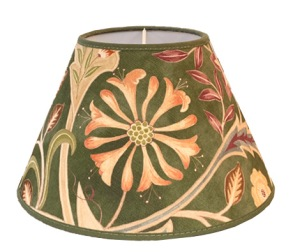 Lampskärm William Morris - Wilhelmina Grön Rund 25 - Lampskärm William Morris - Wilhelmina Grön Rund 25