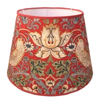 Lampskärm William Morris - Strawberry Thief Röd Rund 32