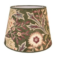 Lampskärm William Morris - Wilhelmina Grön Rund 32