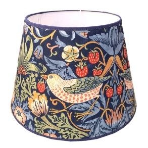Lampskärm William Morris - Strawberry Thief Blå Rund 32 - Lampskärm William Morris - Strawberry Thief Blå Rund 32