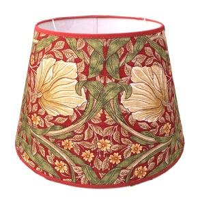 Lampskärm William Morris - Pimpernel Röd Rund 32 - Lampskärm William Morris - Pimpernel Röd Rund 32