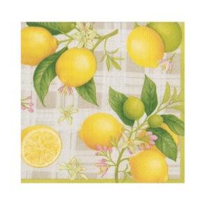 Pappersservett Caspari - Lemon - Pappersservett Caspari - Lemon Lunch