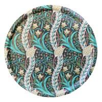 Rund 46 bricka William Morris - Daffodil Grön