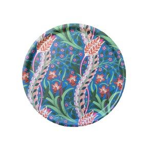 Rund 31 bricka William Morris - Daffodil Blå