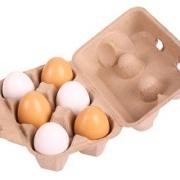 Äggkartong med 6 träägg