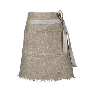 Midjeförkläde i grovt lin - Axlings midjeförkläde - natur