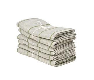 Handduk Marulk från Axlings - Axlings handduk malurk - grön/natur