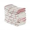 Handduk Marulk från Axlings - Axlings handduk malurk - röd/natur