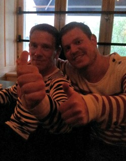 Nöjda coacherna Axel och Seidan