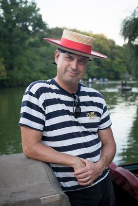 Andrés Garcia- Pena, Brooklyn NY, Gondolier/artist, 53 year