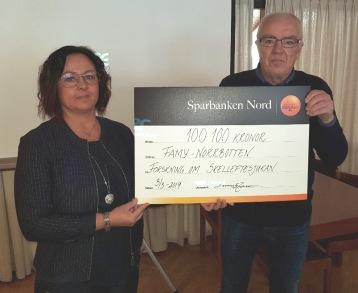 Lennart Jonsson (Piteå Lions) överlämnade 100 100 kr till föreningen i samband med årsmötet 2019. Stort TACK!