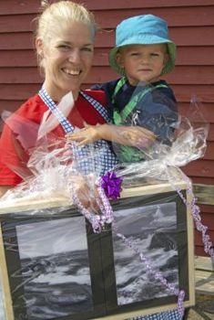 Årets Buabo 2013, Victoria Wiman med sonen Hannes