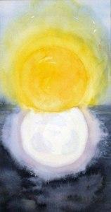 Akvarell Skapelsen, fjärde dagen