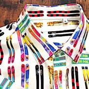 Happy Ski Shirt collar