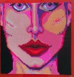 Rosa ansikte, 48*48cm på 1cm tjock plexiglas 6000:-