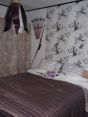 Tapete hade vi i sovrummet i Sundsvall också.
