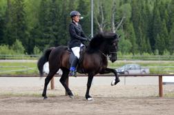 Milla och Berglind vid SM, foto Johanna Berg.