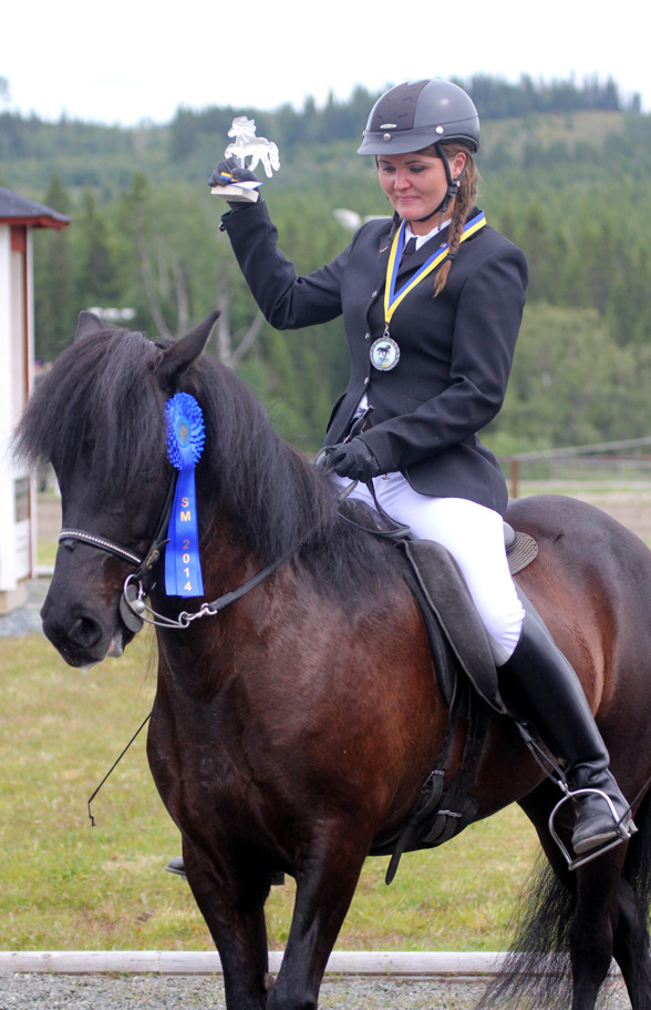 Milla på sin 6:e tävling. Det blev SILVER i T1 på SM tillsammans med Berglind. Foto Johanna Berg.