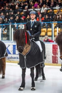 Milla och Jack vid Tölt on ice 2018, foto Sofie Lahtinen Carlsson.
