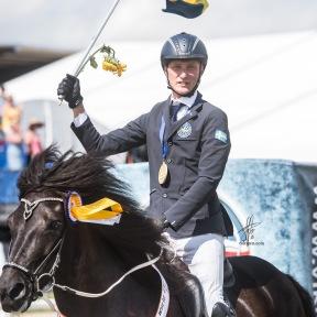 VM-guld Milla från Ammor och Jack Eriksson. Foto Sofie Lahtinen Carlsson.
