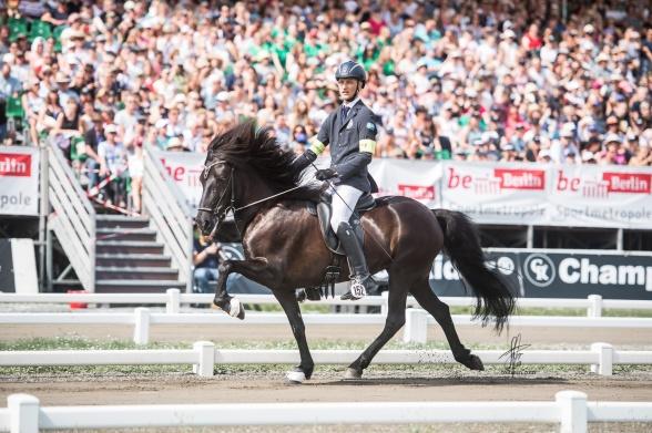 Jack Eriksson och Milla från Ammor världsmästare i T2 2019 i Berlin. Foto Sofie Lahtinen Carlsson
