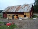 renovering av timmer är färdigt och grunden är tätad med hydraliskt kalkbruk.