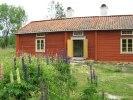 Här ser vi stugan/köket, hall och kammaren.