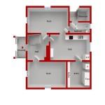 Tegelvillan planritning våning 1