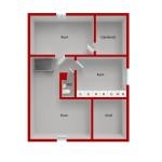 Tegelvillan planritning våning 2