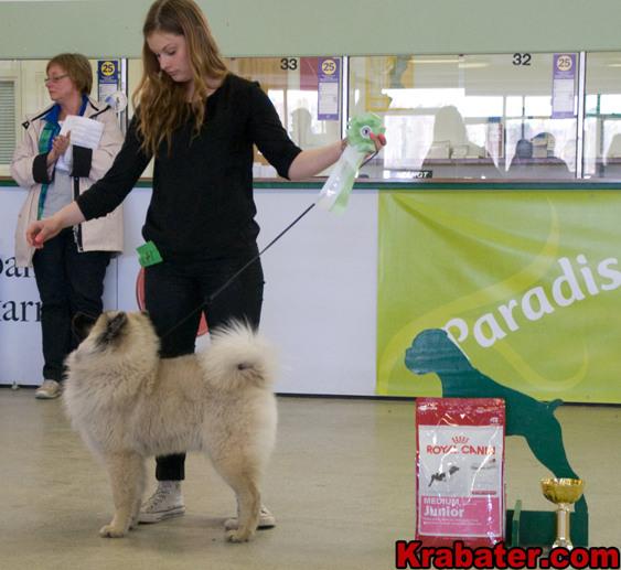 Matilda och Kelly på sin första utställning