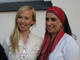 Sofia Yannok och Ghada Shebir vid Tällberg Forum