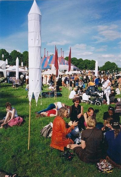 Festivalområde när vi var en utomhusfestival