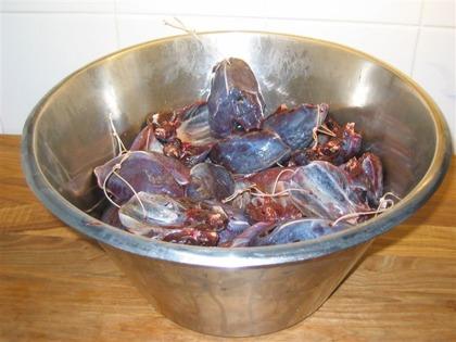 Insaltning av ripa, orre och tjäder