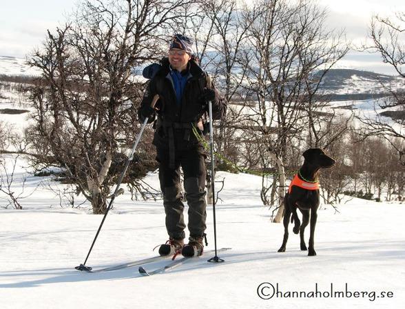 Peter och Jagr 20mån, och med två tassar i elitklass - det värmer.  Foto: Hanna Holmberg,