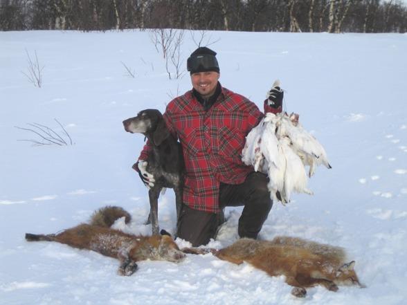 Gamle Keron fick uppleva en rävdubblé på en vinterfjälljakt...