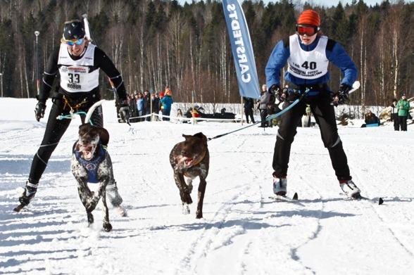 Kristina Norberg visade fin fart i spåret, och kan nog kvala in i laget till nästa år också ;-)   Foto: Christoffer Hellström