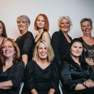Foajépersonal & Biljettsförsäljning, Uppe från vänster: Amy, Goddi, Cassandra, Helen, Eva, nere: Anita, Mia, Ella