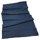 Line linen table cloth blue